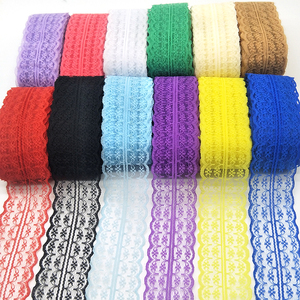 High Quality 10 Yards Lace Ribbon 45MM Width Lace Trim Fabric DIY Embroidered Lace trimmings for Sewing Accessories African Lace