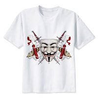LEQEMAO Anarchy T Shirt Men Print T Shirts Fashion Print T Shirts Short Sleeve O Neck