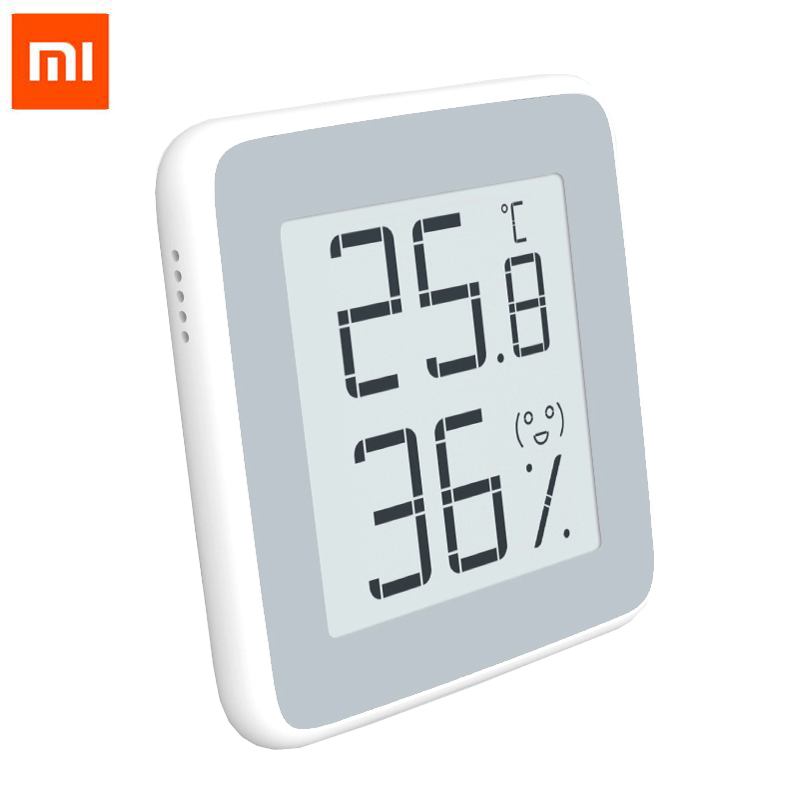 Original Xiaomi Miaomiao E-Link INK Screen Display Digital Moisture Meter High-Precision Thermometer Temperature Humidity Sensor temperature and humidity sensor protective shell sht10 protective sleeve sht20 flue cured tobacco high humidity