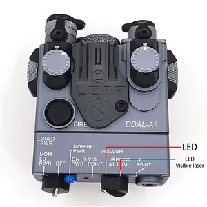 Image 2 - AN/PEQ 15A  DBAL A2 LED White weapon light + Red laser Lenses with Remote Switch Tactical Hunting Rifle Airsoft Battery Box