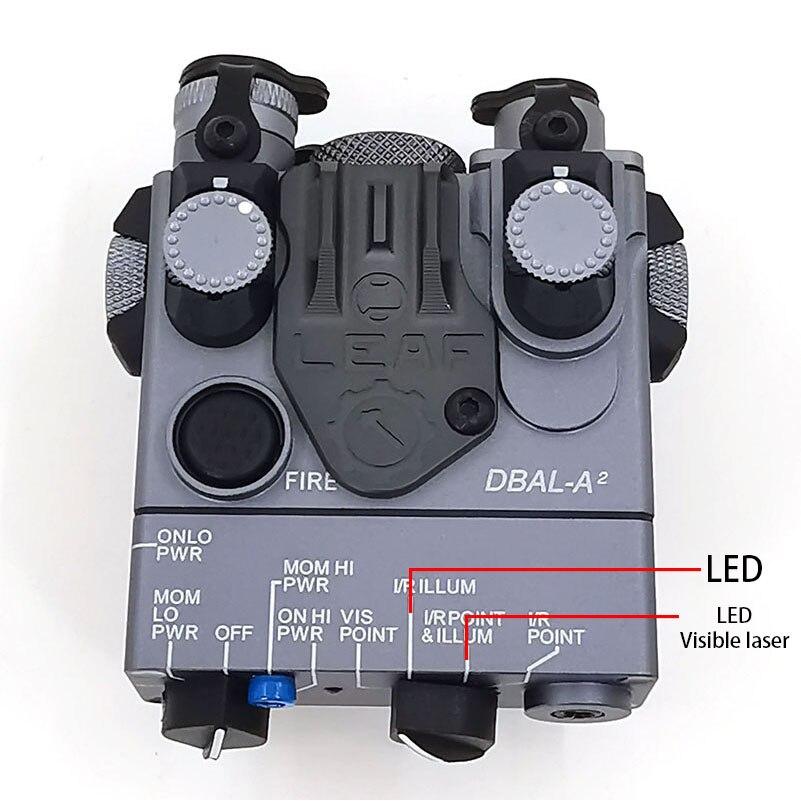 Image 2 - AN/PEQ 15A DBAL A2 светодиодный Белый свет оружия + красные лазерные линзы с дистанционным выключателем тактическая винтовка для охоты страйкбол батарея коробка-in Огни для оружия from Спорт и развлечения