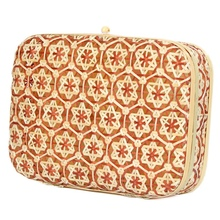 Rattan Woven Storage Box With Lid Handmade Jewelry Boxes Makeup Organizer Wooden Gift