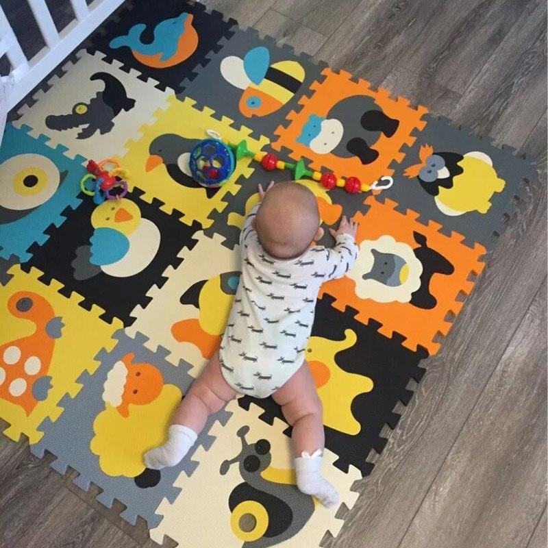 18 pièces/ensemble bébé jouets tapis de jeu Puzzle tapis tapis de jeu enfants en développement ramper tapis bébés Puzzle quatre Styles enfants cadeaux