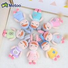 Metoo куклы мягкие игрушки плюшевые животные мягкие детские игрушки для мальчиков и девочек Kawaii Мини Анжела кролик кулон брелок