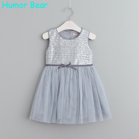 Humor Bear Summer 2017 Girl Dresses Princess Dresses Children Clothing Girls Clothes Sequins Party Dresses Children