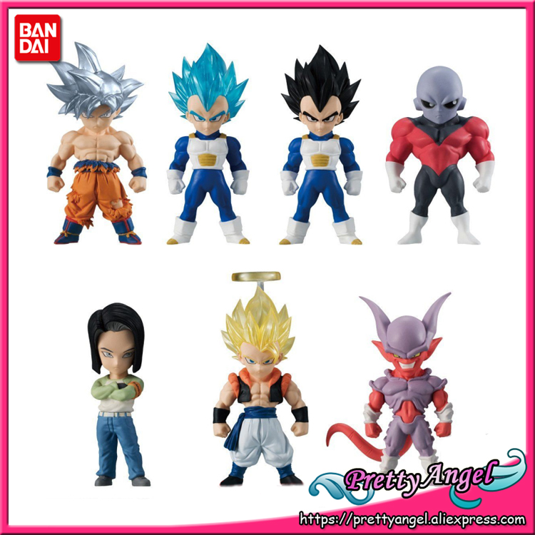 Genuine Bandai ADVERGE 06 Dragon Ball Super Full Set of 7 Pcs Goku Jiren Vegeta Android 17 Gogeta Janenba Collection Figure цена и фото