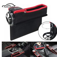 1pcs Car Left Right Side Multifunction Seat Gap Catcher Coin Collector Cup Holder Storage Box Organizer