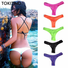 TOKITIND 2019 Cheeky Bottom Sexy Brazilian Mini Thong V Shape G-String Bikini Beach Underwear Swimwear Briefs Swimsuit Panties(China)