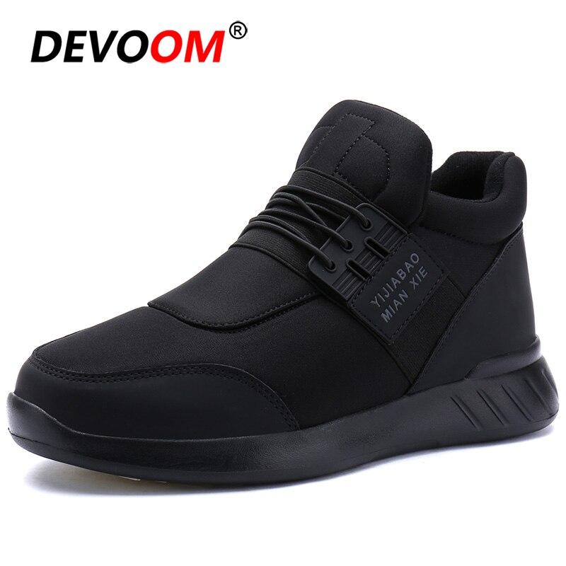 2018 Männer Winter Stiefel Schnee Casual Schuhe Männer Mode Warme Schuhe Männer Turnschuhe Neue Slip Auf Männer Müßiggänger Stiefeletten Plus Größe 45