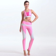 Faddish Women's Sexy Yoga Sets Waistcoat+Sports Pants Skinny Sportswear Fitness Lady Sports Bra assorted colors Pink Grey XS-L