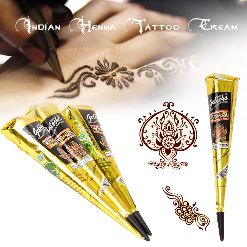 5pcs lot black henna tatytemporary tatoo india tattoo tube for Cheap tattoo ink