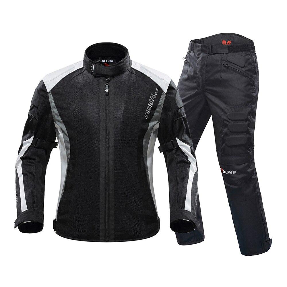 DUHAN 2019 été Moto veste respirant hommes Moto pantalon Moto costume Chaqueta Moto course équitation veste Moto protecteur