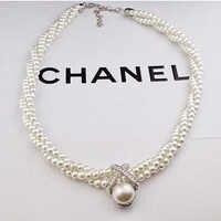 2019 fiesta boda deslumbrante Noble multicapa perlas cadena romántico gargantilla collar de perlas simuladas joyería de moda