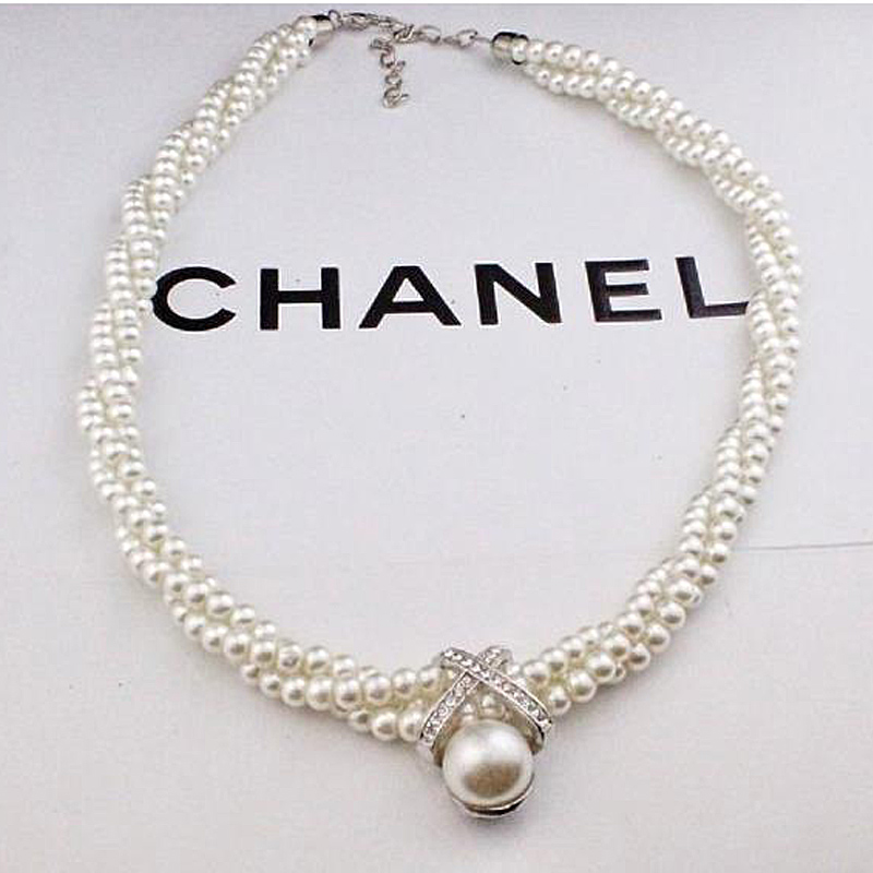 2019 Party Wedding Dazzle Noble Multilayer Beads Chain Romantic Choker Necklace Simulated Pearl Necklace Fashion Jewelry(China)