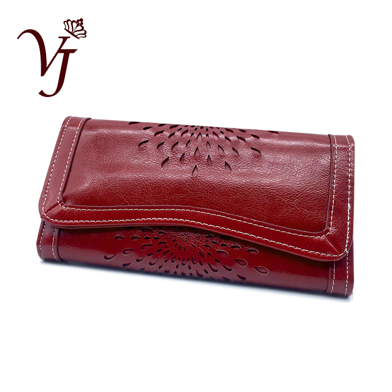 2019 Luxury Brand Leather Ladies Wallet Long Women Phone Wallets Large Purse Female Coin Purse Card Holder Clutch Femme Red/Pink