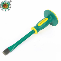 BERRYLION 250mm Carving Chisel Flat Blade Straight Chisel For Stone Construction Carving Carver Hand Tools