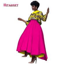 2017 Hitarget African Print Autumn dresses for women Two Pieces Skirt Sets  Bazin Riche Top and Skirt Traditional Clothing WY1120 751e805bf4f2
