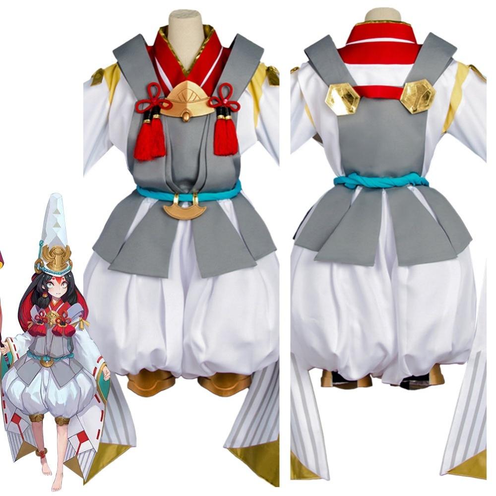 Costume de Cosplay de maître Onmyouji Yin Yang Kanna Bai Tong Zi Costume Kimono de réveil Costumes de carnaval d'halloween