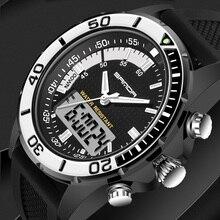 2018 Mens Watch Brand SANDA Sport Diving LED Display Wristwatch Fashion Casual Rubber Strap Men Montre Homme Relogio #003