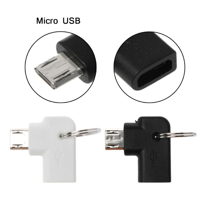 90 Degree Micro USB Female To Male Charging Converter Connector Adapter For Samsung Huawei Xiaomi ZTE Android Mobile Phone