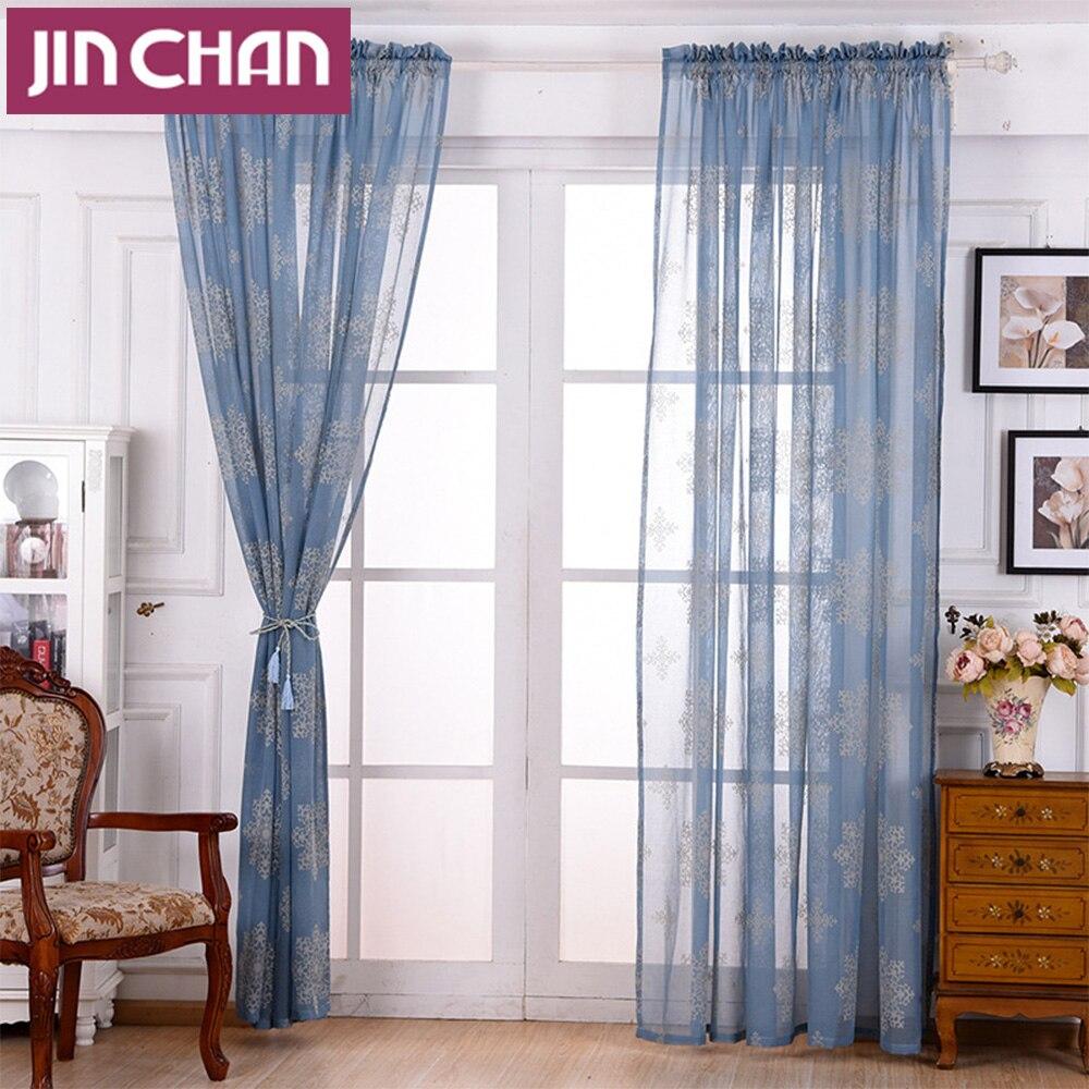 Hoge Kwaliteit Groothandel blauw sheer gordijnen van Chinese blauw ...
