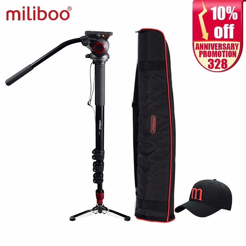 Miliboo MTT705A алюминий Портативный Жидкости Глава камера монопод для видеокамеры/штатив для цифровой зеркальной камеры Professional видео штатив 72 М...