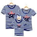 Familia cotton clothing bandera americana camisetas tops de las camisetas a juego madre padre hija hijo ropa familia mirada ropa de verano