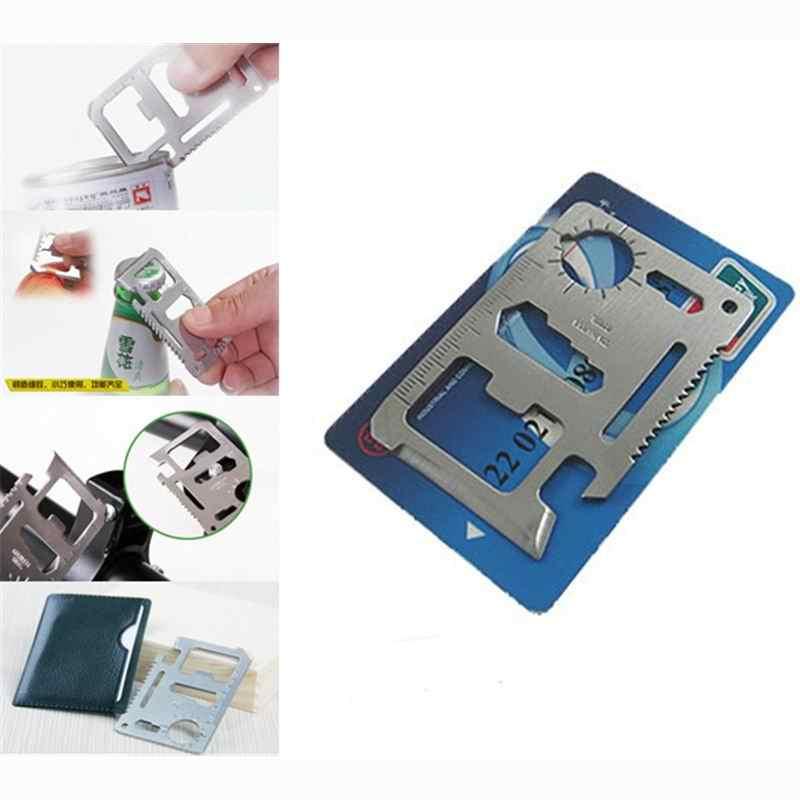 Kieszonkowe narzędzie wielofunkcyjny nóż kredytowy edc butelka na zewnątrz przetrwać kartę biegów wielofunkcyjny gadżet obóz otwieracz portfel zestaw