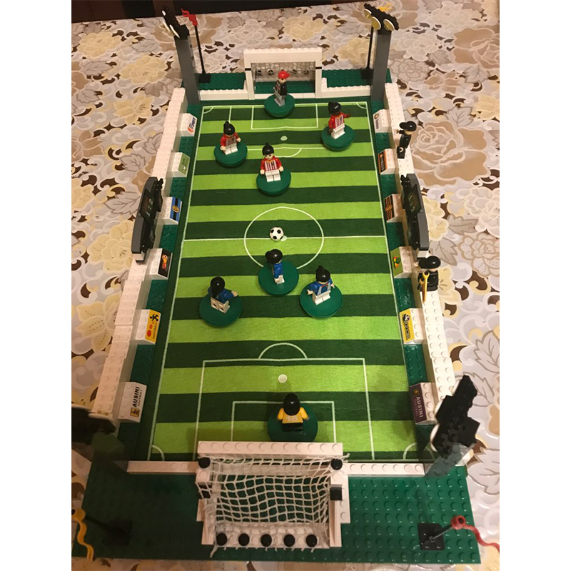 Model Building Kits Compatible Legoe CITY Football Series 199 3D Blocks Building Set Toys For Children World Cup Gifts стоимость