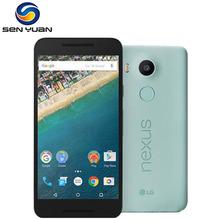"Original Unlocked LG Nexus 5X H791 H790 Mobile Phone Fingerprint Recognition 5.2 "" 2GB RAM 16/32GB  ROM 4G  WIFI GPS Cell Phone"
