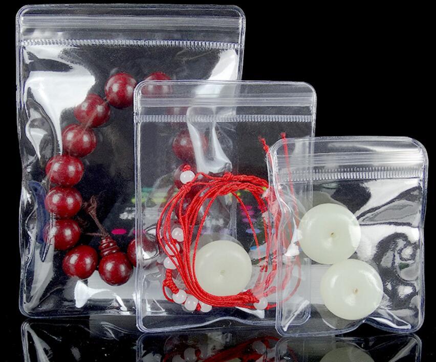 1ba6f8a12a2 4 6cm Self Seal Soft Plastic Anti-oxidation Storage Bag Clear PVC Antitarnish  Jewelry Ring Cosmetic Ziplock Pouch