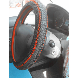 Ice Silk Breathable Non-Slip Steering Wheel Cover Sport Universal For Diameter 38cm / 14.96 inch Auto Car Accessories