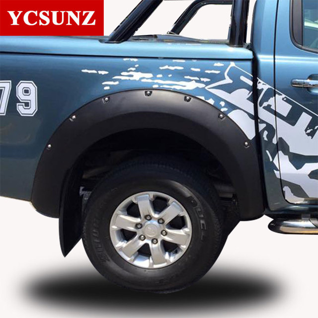 2012 2014 Fender Flare For Ford Ranger T6 Accessories Black Color ...