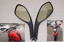 NEW Pair Motorcycle Rear Side View Mirrors  fits for  DUCATI MONSTER  695 696 796 Black Free shipping