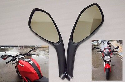 NEW Pair Motorcycle Rear Side View Mirrors  fits for  DUCATI MONSTER  695 696 796 Black Free shipping motorcycle rear side view mirrors a pair brand new high quality for ducati monster 695 696 796 black