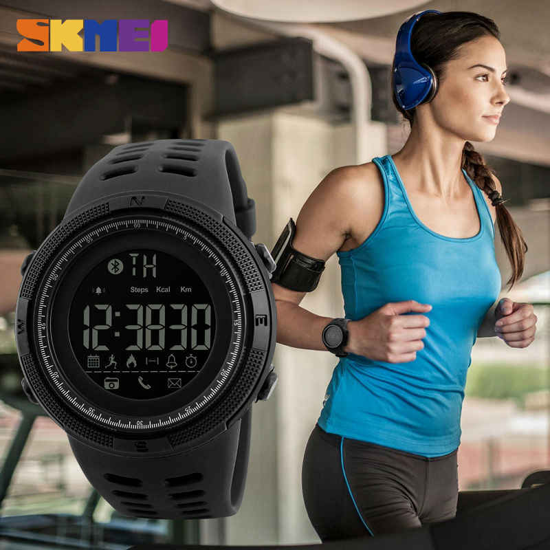 SKMEI  Remote Camera  Watch Pedometer APP Call Remind  Wristband Sleeping Monitor Men watch For Android IOS 1250