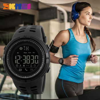 SKMEI Remote Camera Smart Watch Pedometer APP Call Remind Smart Wristband Sleeping Monitor Men Smartwatch For Android IOS 1250