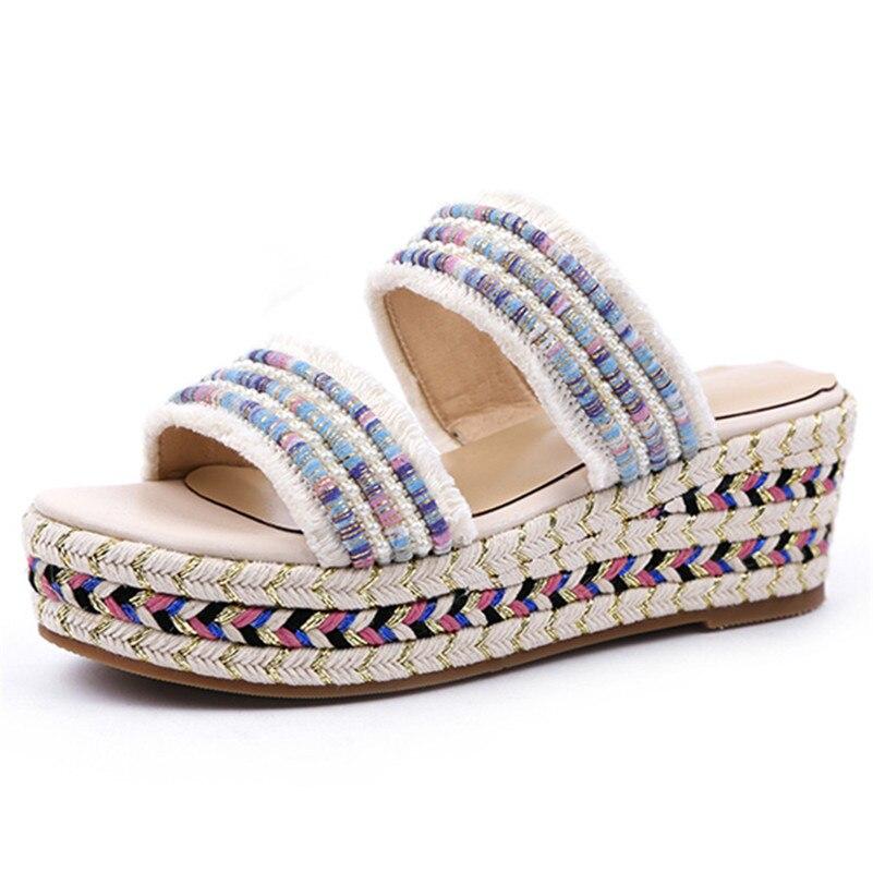 Fedonas 2019 새로운 도착 패션 라운드 발가락 여성 샌들 얕은 플랫폼 캐주얼 신발 여름 달콤한 간결한 기본 신발 여자-에서하이힐부터 신발 의  그룹 2