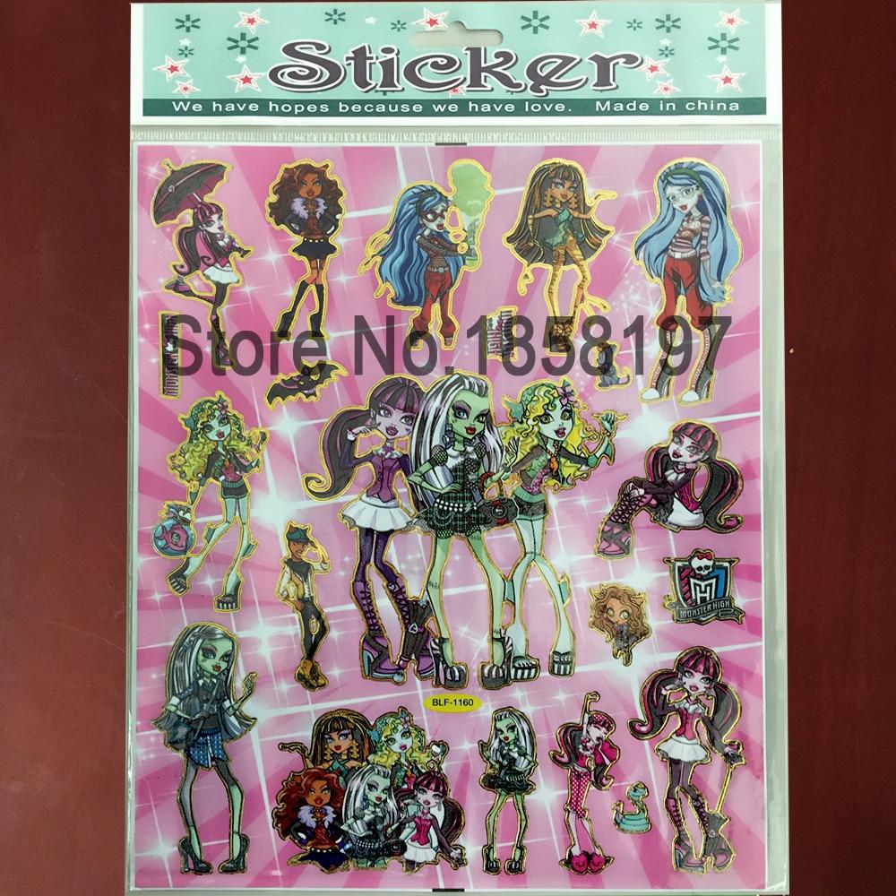 Monster High Bedroom Decorations Popular Stickers Monster High Buy Cheap Stickers Monster High Lots
