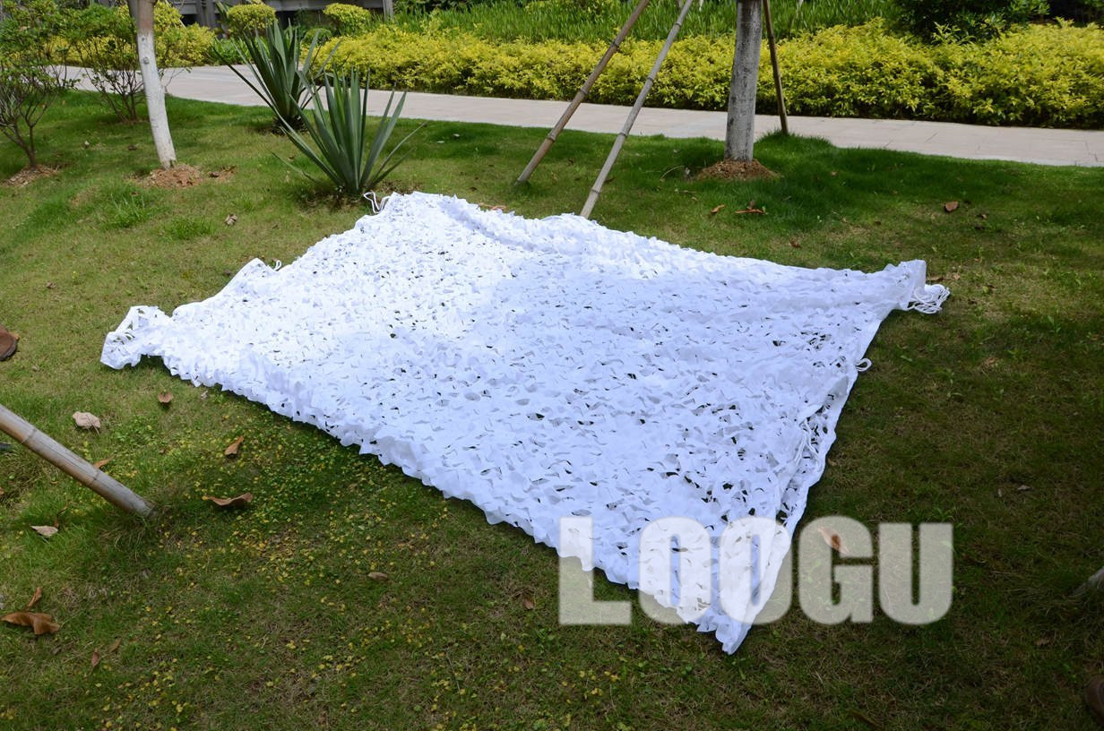 LOOGU EM 4M*5M White Camo Netting Snow Camouflage Netting Sunshade White Camouflage Netting Decoration Snow White Camo Net loogu em 3m 4m blue camo netting sea ocean camouflage netting ship covering tent decoration camouflage net