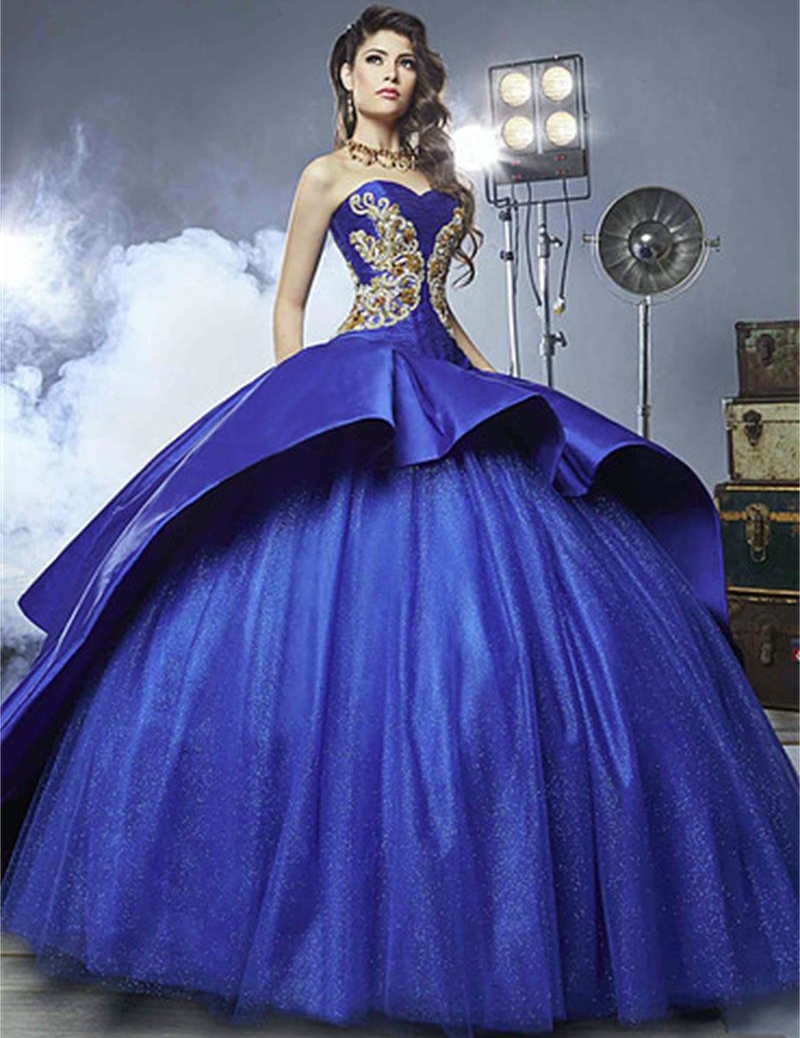 Aliexpress.com : Buy Royal Blue Quinceanera Dresses 2017 ...  Aliexpress.com ...