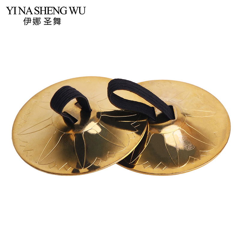 Show details for 1 Pair (2pcs) Professional Women Belly Dance Accessories Copper Finger Cymbals Belly Dance Zills Egypt Tribal Belly Dance Props