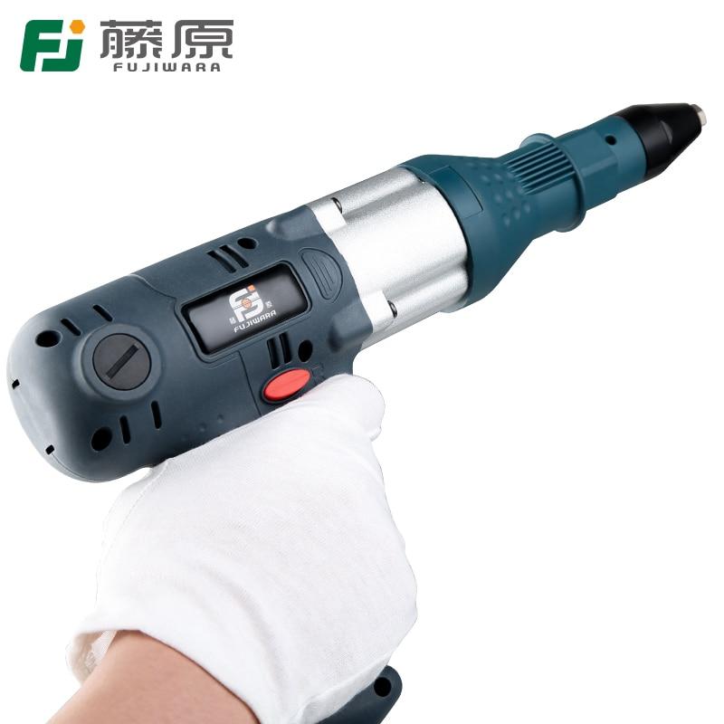 FUJIWARA Blind Rivets Gun Riveting Tool Electric Rivet Guns Electrical Power Tool 350W For 3.2 4.8mm
