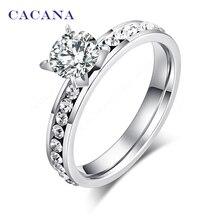 Кольцо обручальное CACANA CZ R174