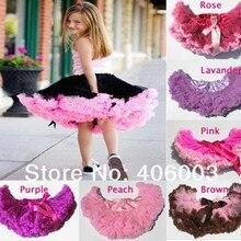 Юбки для малышей пачка для маленьких девочек розовая и черная тюлевая юбка с рюшами