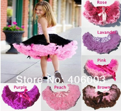 free shipping toddler petticoats baby girls tutu pink black ruffle tulle table skirt