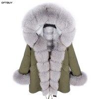 OFTBUY 2019 Winter Jacket Women Long Parka Real Fox Fur Collar Hood white duck down jacket Liner Thick Warm Parkas Streetwear