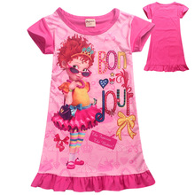 Fancy Nancy Baby Dresses Princess Girls Dress Kids Clothes Children Party girls fashion 2019 wonder girl 4-12Y