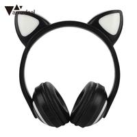 Cute LED Bluetooth Headset Sport Cat Ears Earphone Stereo Wireless Bluetooth Headphone