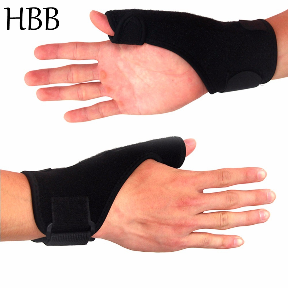 HBB 1pc High Quality Left/Right Thumb Wrist Support Brace Guard Support Splint Stabiliser Sprain Arthritis Spica